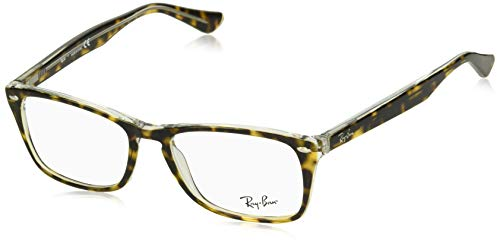Ray-Ban RX5228M Square Eyeglass Frames, Tortoise On Transparent/Demo Lens, 54 mm