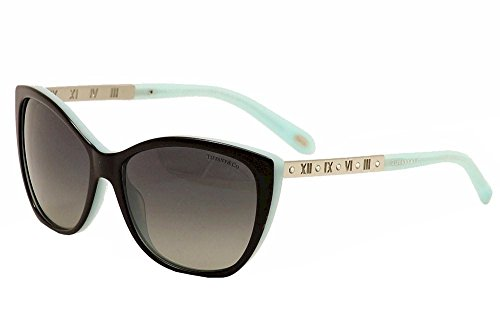 Tiffany TF4094B 8055/T3 Black/Blue TF4094B Cats Eyes Sunglasses Polarised - Sunglasses Tiffany Cat Eye