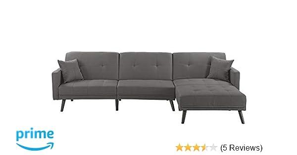 Housel Living HSL132-FB Sofa, Dark Grey