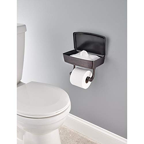 Delta Toilet Paper Holder with Privacy Storage in SpotShield Venetian Bronze by Delta (Image #1)