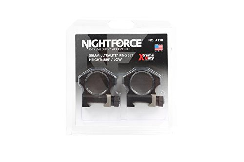 "Nightforce Optics 0.885"" Low Ultra Light Titanium Alloy Ring Set for 30mm Scopes"