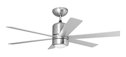 Orbegozo CP 50120 - Ventilateur de plafond avec éclairage et télécommande, 6 pales, 120 cm de diamètre, puissance 60 W et 3 vitesses