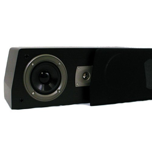 Theater Solutions C1 Center Channel Speaker (Black) by Theater Solutions