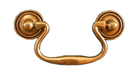 Antique English Drawer Bail Pull Handle Centers: 3