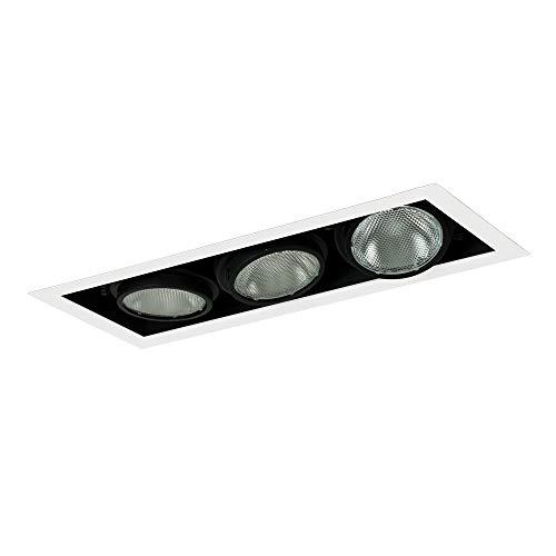 3wb Wall Lights - Jesco Lighting MYP30-3WB Modulinear Directional Lighting, Adjustable Yoke PAR30 3-Light Linear, Black Interior With White Trim