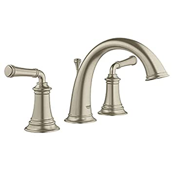 Grohe Gloucester Brushed Nickel 2 Handle Widespread Watersense