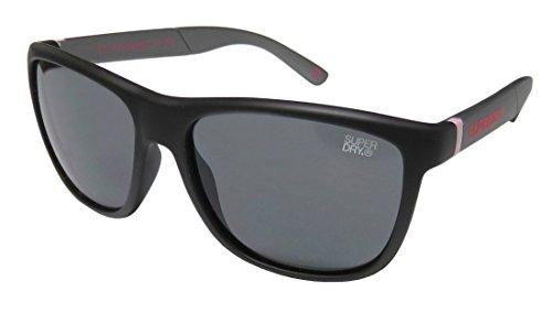 Superdry Sds Gymsta Mens Designer Full-rim 100% UVA & UVB Lenses Sunglasses/Eyewear (56-17-138, Matte Black / - Sunglasses Superdry Case