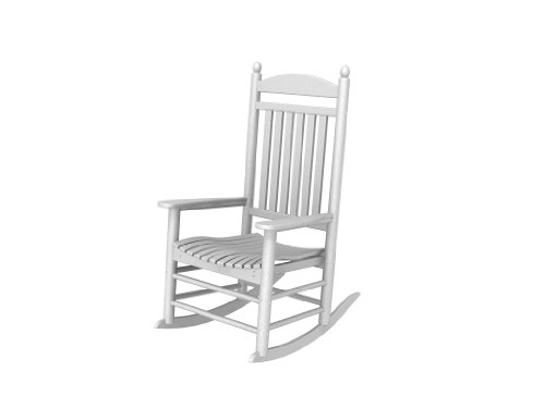 Recycled Plastic Jefferson Rocker by Polywood Frame Color: White