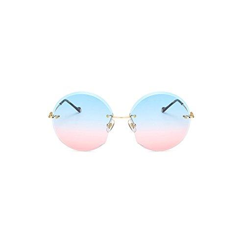 Générique sans Sunglasses Lunettes Nouvelles Monture Cut Sunglasses Femmes Sunglasses Lunettes Soleil Double Ocean Soleil de de pour Blue Couleur Powder Polished Powder ArOAavn