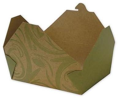 Alimentos y Gourmet cajas - Sonoma BIOPAK (R) Kraft contenedores de alimentos contenedores (200) - bows-bp-070502-son: Amazon.es: Amazon.es