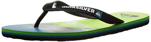 Quiksilver Mens Molokai Slash Logo Sandal Black/Green/Blue