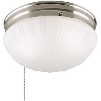 Amazon design house 519264 1 light ceiling light with pull westinghouse 6721000 two light flush mount interior ceiling fixture with pull chain brushed nickel finish with frosted fluted glass aloadofball Choice Image