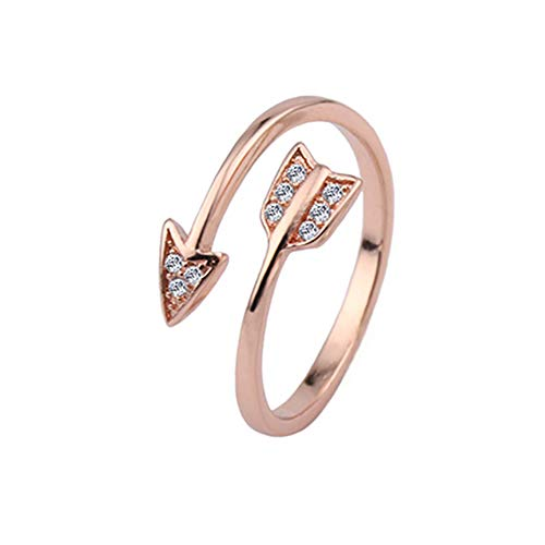 Gsdviyh36 Unisex Rhinestone Arrow Jewelry Party Club Open Ring Adjustable Couple Accessory Valentine's Day Charming Jewelry Gift Clothing Accessories