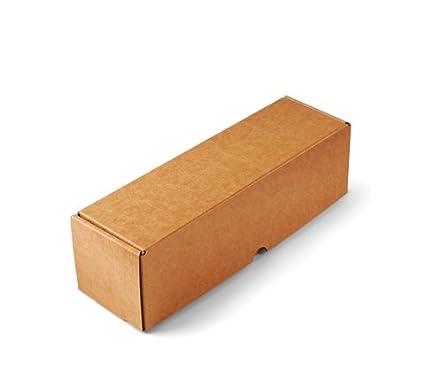 Selfpackaging Caja para envíos Alargada en microcanal Color Kraft Muy Resistente. Envia Botellas. Pack de 50 Unidades. - S