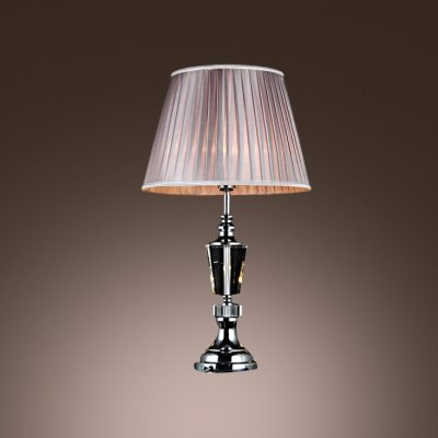hua Table Lamp with Clear Crystal and Chrome Finish Makes Classic Urn Style (Classic Urn Lamp)