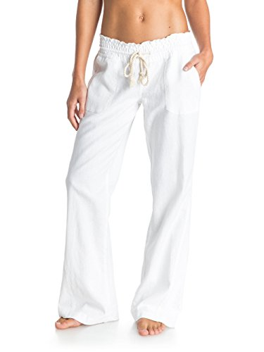 Womens Linen Drawstring Pants - 1