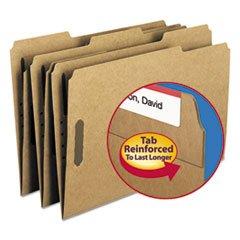 (6 Pack Value Bundle) SMD19837 11 Point Kraft Folders, Two Fasteners, 1/3 Cut Top Tab, Legal, Brown, 50/Box