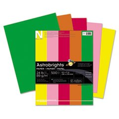 Astrobright Assortment - (6 Pack Value Bundle) WAU21224 Astrobrights Colored Paper, 24lb, 8-1/2 x 11, Assortment, 500 Sheets/Ream