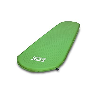 Fox Outfitters Ultralight Series Self Inflating Camp Pad - Perfect Foam Sleeping Pads for Camping, Backpacking, Hiking, Hammocks, Tents