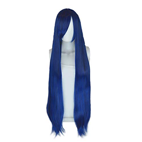 "EpicCosplay Persephone Blue Black Fusion 40""Natural Synthetic Anime"