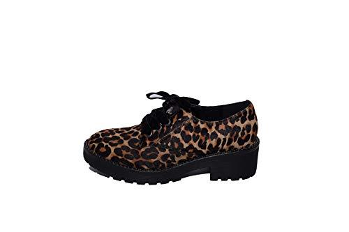 35 Chaussures Ville Femme Leopardato À Lacets De Apepazza Eu Pour Multicolore q1dzn6Exw