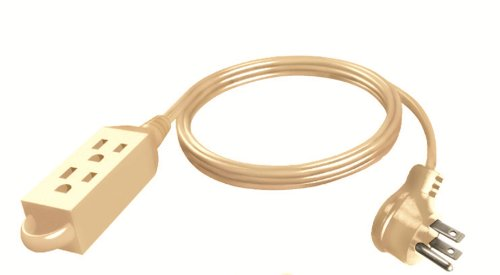 Stanley 31125 CordMax9 Appliance, Grounded 9ft 3-Outlet Low Profile Indoor Extension Cord, Beige