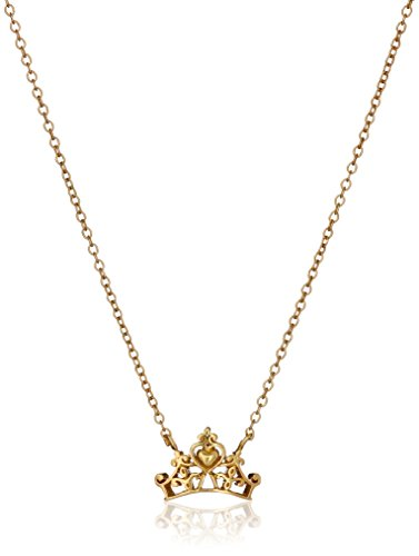 Disney Sterling Silver Gold Plated Princess Crown Pendant...