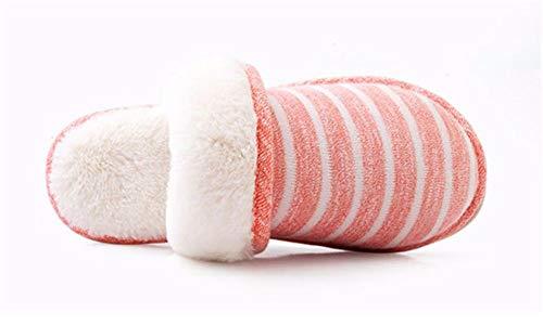 Termica Interni Super Antislittamento Ymfie A Colleghi Scarpe High grade Amanti Pantofole Eleganti B Onorevoli E Cotone Morbido Di Strisce Inverno OZqdZSw