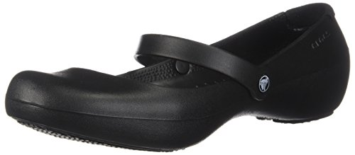 crocs Women's Alice Mary Jane Flat,Black,8 M US (Crocs Women Flat Shoes)