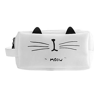 Functy Estuche de dibujos animados de gato de sÃlice de gran capacidad para gatos de gran