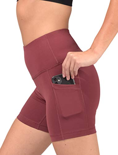 "90 Degree By Reflex - High Waist Power Flex Biker Shorts with Side Pockets - 5"", 7"", 9"""