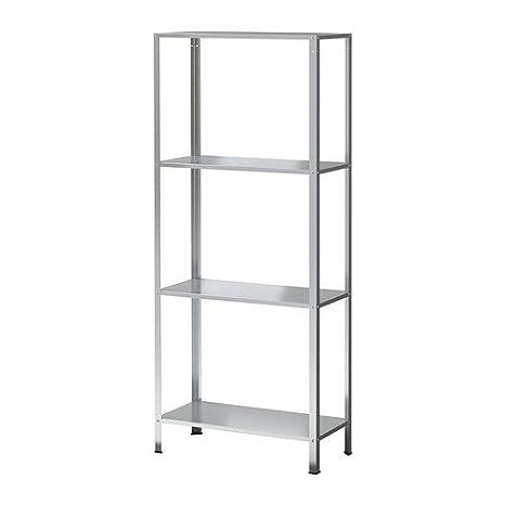 Ikea Scaffalature In Metallo.Ikea Hyllis Scaffale Zincato 60 X 27 X 140 Cm Amazon It Casa