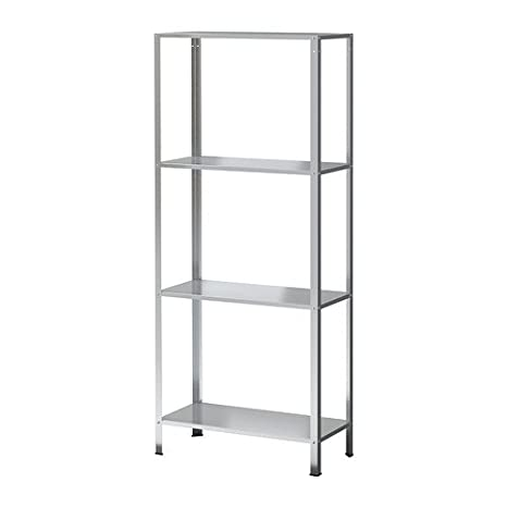 Ikea Libreria Metallo.Ikea Hyllis Scaffale Zincato 60 X 27 X 140 Cm Amazon