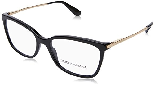 (Dolce&Gabbana DG3243 Eyeglass Frames 501-52 - Black)