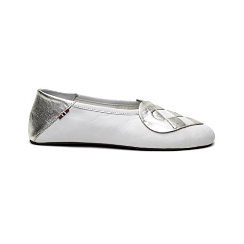 A. Andreassen Women's Italian Leather Elskling Slipper ''White Metallic Pearl'' (9 US 40 EU 41 IT) by A. Andreassen (Image #4)
