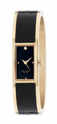 kate spade new york Women's 1YRU0049 Black Carousel Stainless Steel Bangle Watch (Contemporary Steel Bangle)