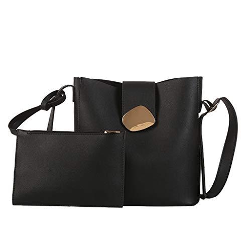 (Tronet Crossbody Shoulder Bags, 2PCWomen Ladies Girls FashionSolidShoulder Handbag Purse Crossbody Tote Bag)