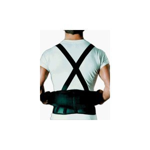 (Sportaid, Back Belt with Suspenders, Black, 26 Inches-36 Inches, Small - 1 ea by SportAid)