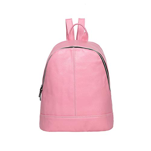 Amazon.com: Pu Leather Backpacks School Female Backpack Travel Shoulder Bag Women Shoulder Bags: Clothing
