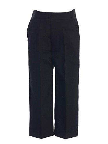 Lito Little Boys Black Dress Pants,Large / 12-18 Month (Pleated Pants Dress Boys)