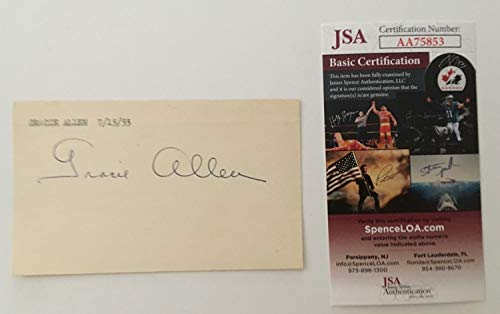 utographed Signed 3X5 Card Jsa Certified George ()