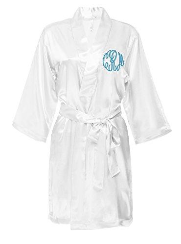 Classy Bride Monogrammed Satin Robe - - Satin Monogrammed