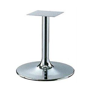 e-kanamono テーブル脚 MW7600 ベース600φ パイプ60.5φ 受座240x240 クロームメッキ 高さ700mmまで B012CC6RJG