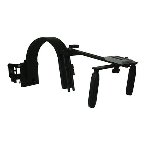 Switronix HDV PRO/AS Camera Shoulder Support with 3-Stud Plate and S-GJS-T Wireless Mic Receiver Plate by Switronix