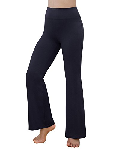Womens Elite Pant (REETOYO Women's Power Flex Tummy Control Workout Yoga Boot Cut Flares Pants With Inner Pocket, Royalblue , Small)