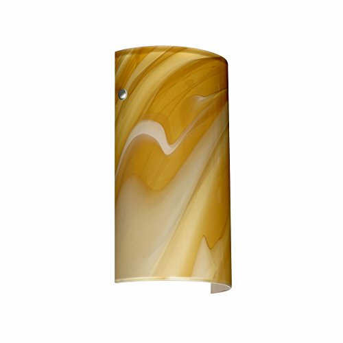 Besa Lighting 7042HN-PN 1X75W A19 Tamburo 7 Wall Sconce with Honey Glass, Polished Nickel Finish