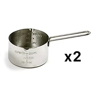 Stainless steel 2 cup incremental measuring cup (Set of 2)