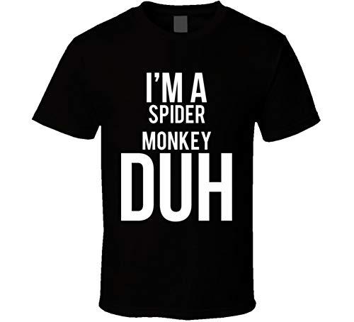 I'm a Spider Monkey Duh Parody Costume Halloween T Shirt XL Black ()