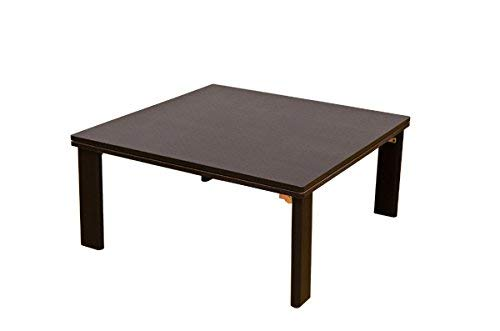 折れ脚フラットヒーターこたつテーブル ( 折りたたみこたつ ) 【正方形 80cm×80cm】 木製 本体 ブラウン B01LZ5T56F