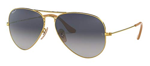 Ray Ban RB3025 001/78 58M Gold/Polarized Blue Gradient Aviator